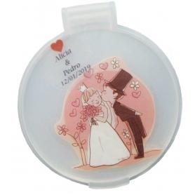 Miroir de Poche Personnalisé pour un Mariage