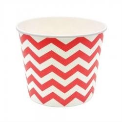 Pot à Pop-corn Zigzag  Dragées Chocolats et Bonbons Cadeaux